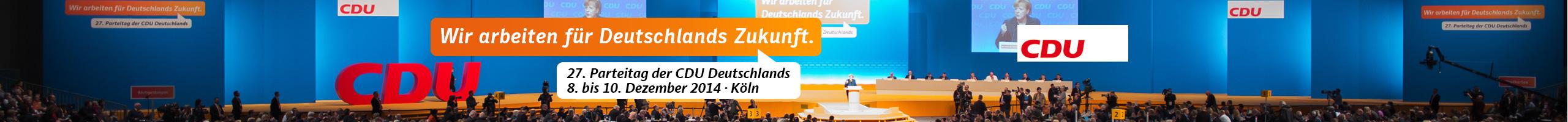 CDU Parteitag 2014 in Köln