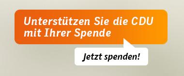 Unterstützen Sie die CDU mit Ihrer Spende