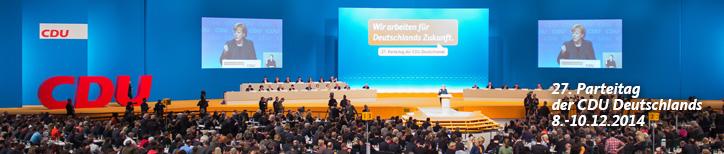 27. Parteitag der CDU Deutschlands in Köln